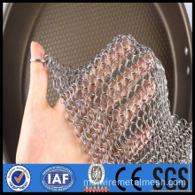 Keluli tahan karat 316 Chainmail Pan Cleaner